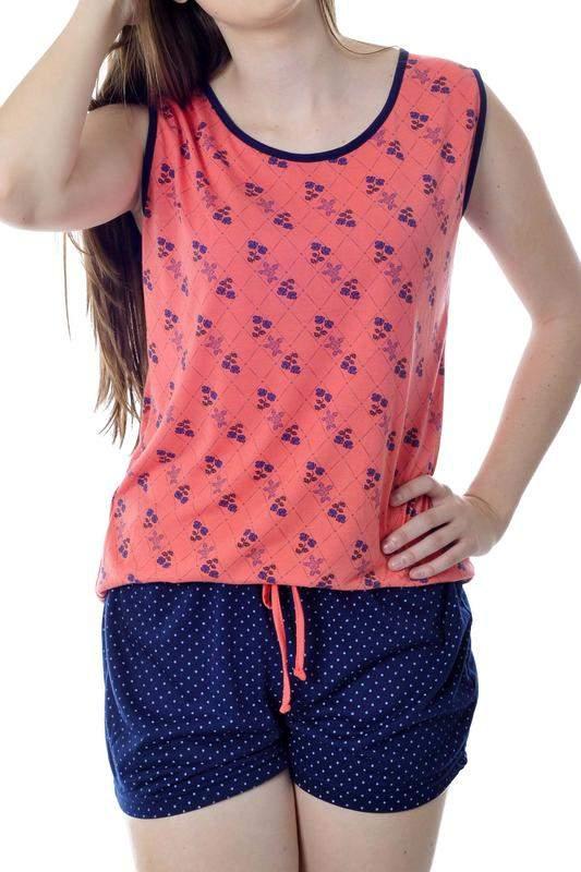 8b532f0b5 Pijama short doll de regata feminino curto - R  59.90  6381