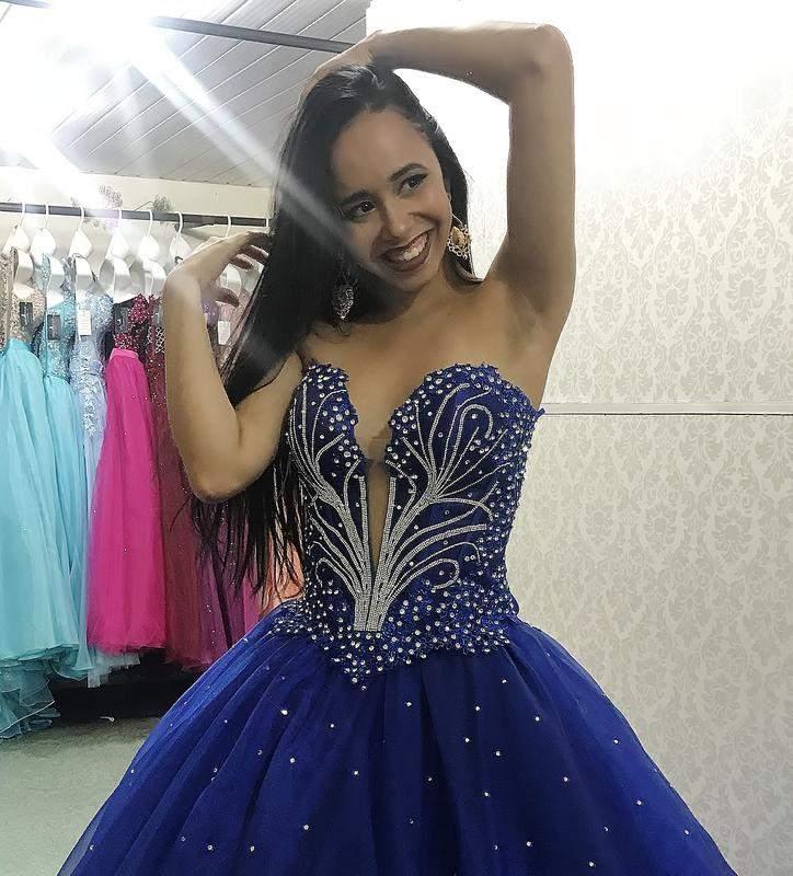 5126bab26ac Vestido de debutante azul royal - 2 em 1 - R$ 1300.00   SHAFA - O melhor da  moda feminina