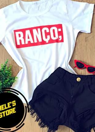 T-shirt baby look ranço