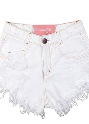 Short jeans feminino hot pants desfiado sh23