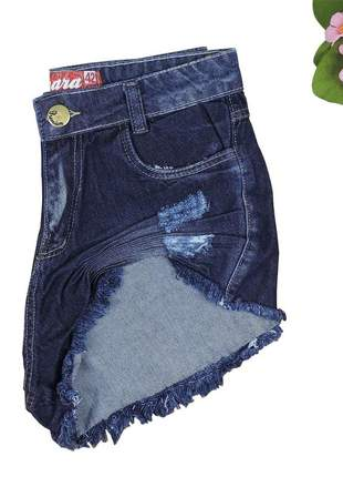 Short jeans feminino hot pants desfiado sh05