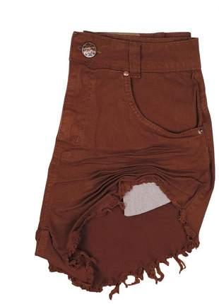 Short jeans feminino desfiado sh08