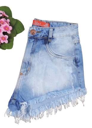 Short jeans feminino hot pants desfiado sh21