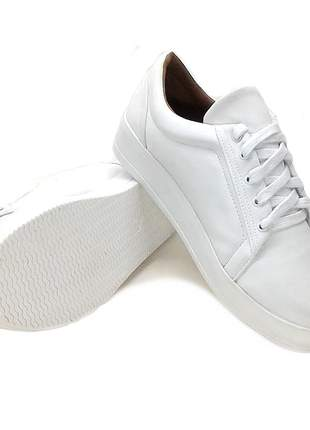 Tenis feminino branco sapatenis casual alpargata sintetico ecologico 32 ao 43