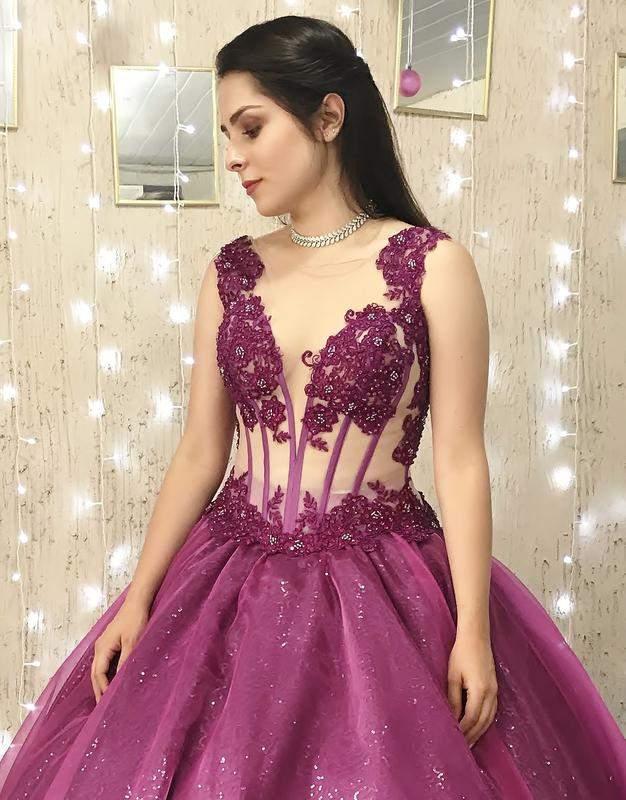 2bb0c129234 Vestido de debutante roxo magenta - 2 em 1 - R$ 1450.00   SHAFA - O melhor  da moda feminina