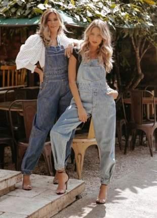 Macacão jeans alcance jeans