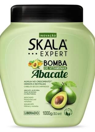 Creme tratamento skala bomba de vitaminas abacate 1000g