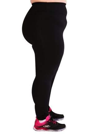 Legging preta plus size