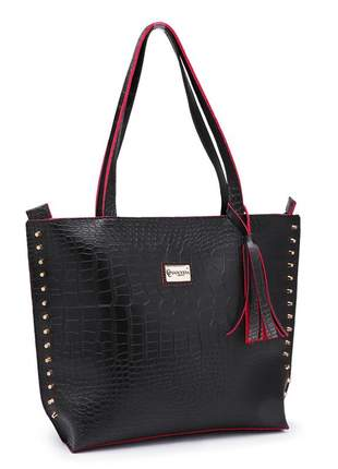 Bolsa sacola grande saco exclusive croco preto linda