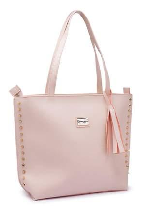 Bolsa sacola grande saco exclusive rosa salmão linda