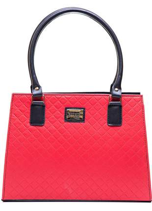 Promoção bolsa metalasse vermelha exclusiva pronta entrega