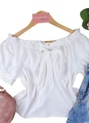 Blusa feminina social ciganinha laço bs706