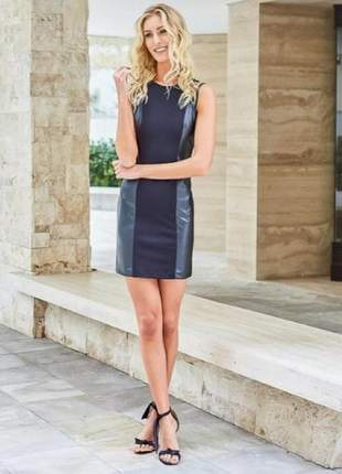 Vestido couro na lateral frete grátis