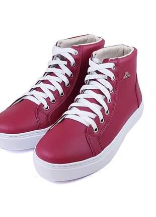 Tenis bota cano baixo vermelho super confortavel lindo