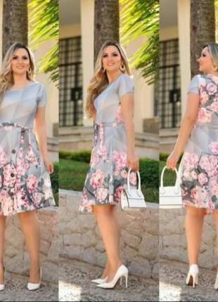 Vestido gode moda evangelica rodado