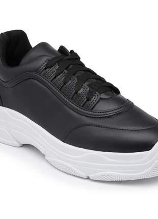 Tênis dad sneaker chunky preto leigam