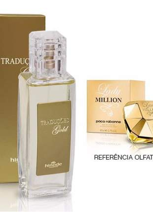 Perfume traduções gold nº 14 - lady million hinode  - 100 ml