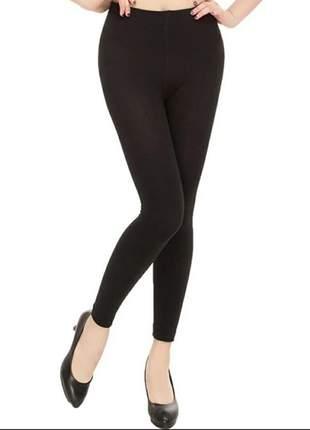 Meia calça fio 80 preto feminino leg moda até 44