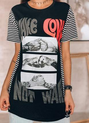 Camiseta make love influences