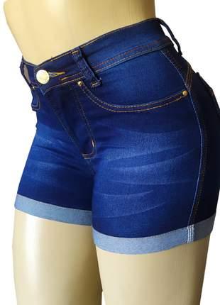 Short cintura alta hot pants com lycra