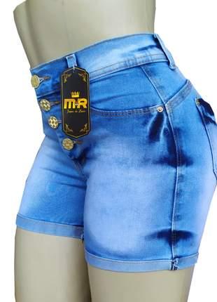 Short cós alto hot pants com elastano
