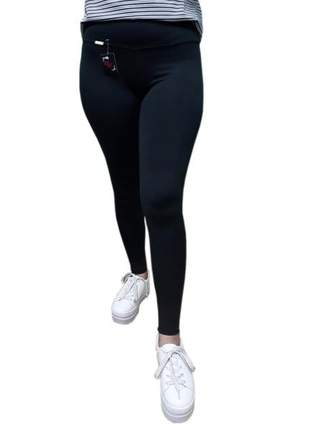 Kit 2 calça legging feminina academia lisa pingo exutai
