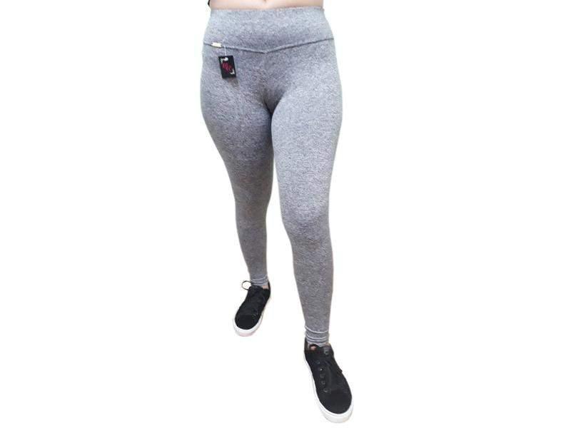 Kit 3 calça legging feminina academia lisa pingo exutai