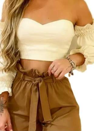 Blusa top cropped ciganinha