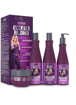 Kit violeta blond - supermatizador da mary life