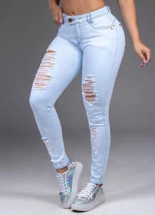 Calça feminina pit bull jeans clara destroyed
