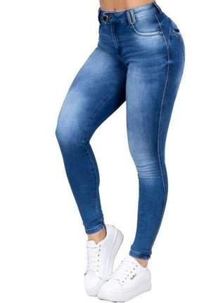 Calça feminina pit bull jeans cintura alta confortável