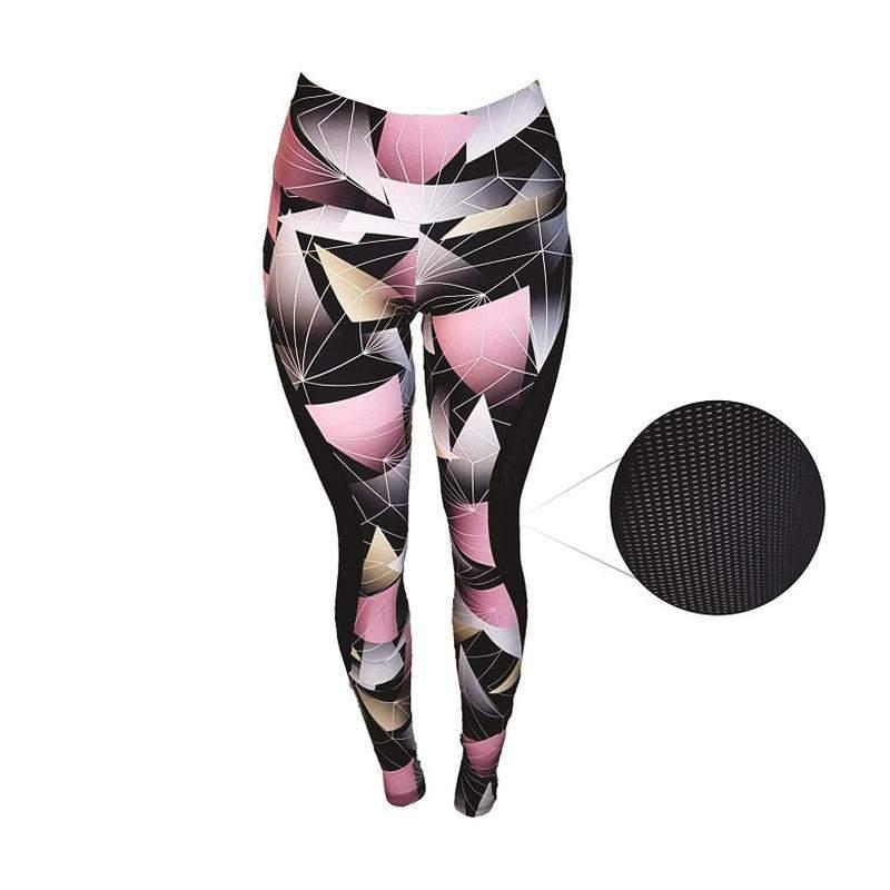 Huzzy / Calça legging fitness academia estampada confortável com tela lateral