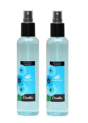 Kit 2 aromatizador perfume de ambiente orvalho amazonia aromas