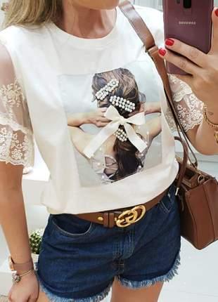 Tee shirt princesa  coleção amor