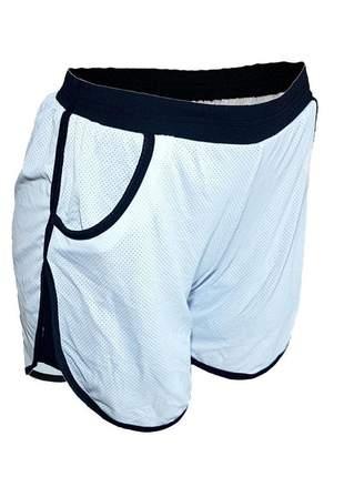 Short curto feminino fitness tipo short saia academia dry fit e forro c/ elastico