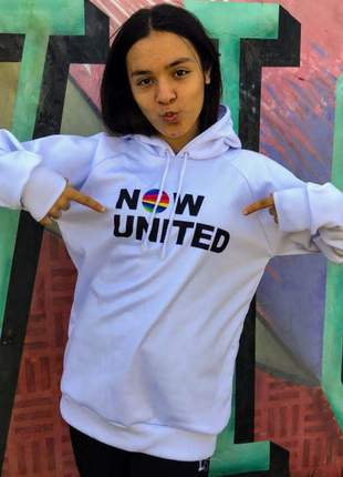 Blusa de moletom feminino branca now united