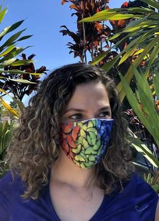 A melhor mascara de proteção com 3 camadas levável e reutilizável butterflies