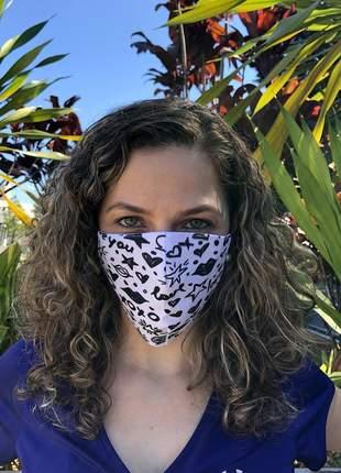Melhor mascara com 3 camadas de tecido lavável segue normas oms e min. saúde
