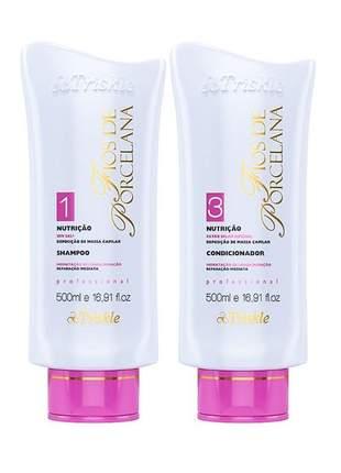 Kit nutrição shampoo e condicionador triskle 500ml