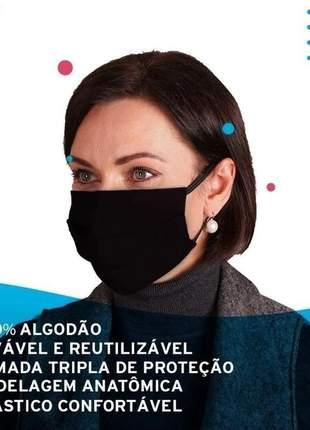 Kit 10 mascaras reutilizáveis tripla camada proteção 100% algodão