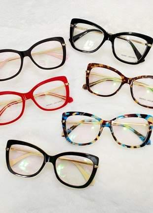 Armação de oculos quadrada feminina mj545