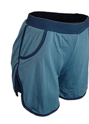 Shorts fitness feminino academia tipo short saia dry fit e forro c/ elastico cinza