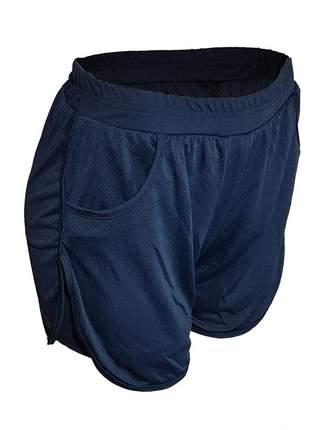 Short duplo fitness tipo short saia feminino academia dry fit com elastico