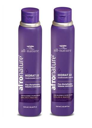 Kit  2 leave in hidrat 22 afro nature 310 ml