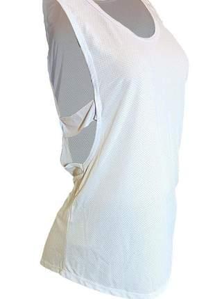 Camisa regata feminina alça lateral fitness academia dry fit
