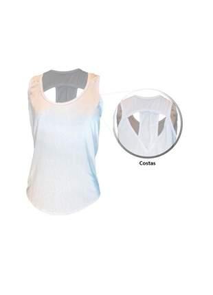 Camisa regata feminina fitness academia dry fit recorte nas costas