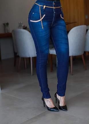Calça jeans maravilhosa - grátis cinto