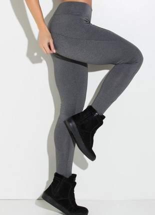 Calça legging mescla montaria cinza