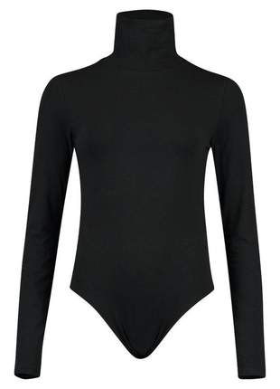 Moda feminina body feminino gola alta manga longa