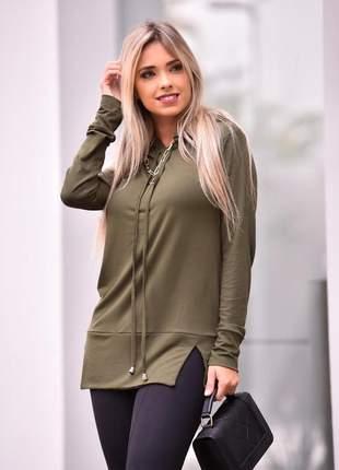 Blusa com capuz green